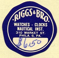 Riggs & Bro., Philadelphia, Pennsylvania (32mm dia.)