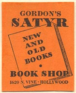 The Satyr Book Shop, Hollywood, California (25mm x 31mm)