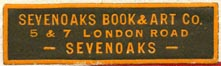 Sevenoaks Book & Art Co., Sevenoaks [London], England (37mm x 11mm)