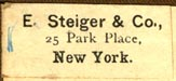 E. Steiger & Co, New York, NY (27mm x 12mm)