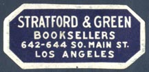 Stratford & Green, Booksellers, Los Angeles, CA (35mm x 16mm)