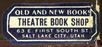 Theatre Book Shop, Salt Lake City, Utah (34mm x 14mm)