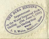 J.R. Wales [Bookbinder], Marlboro, Massachusetts (26mm x 18mm). Courtesy of Robert Behra.