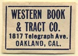 Western Book & Tract Co., Oakland, California (25mm x 18mm)