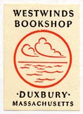 Westwinds Bookshop, Duxbury, Massachusetts (17mm x 25mm).
