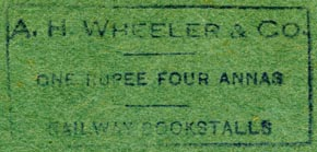 A.H. Wheeler & Co., India (47mm x 22mm)