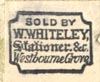 W. Whiteley, Stationer, Westbourne Grove [London, England] (14mm x 12mm, ca.1888?)