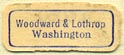 Woodward & Lothrop [dept store], Washington, DC (20mm x 7mm). Courtesy of Donald Francis