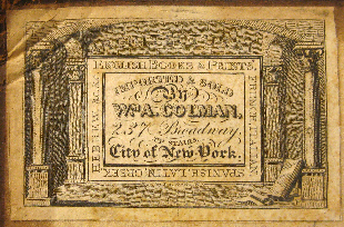 William A. Colman, New York, New York (50mm x 32.5mm, c.1829). Courtesy of John Lancaster, June 2012.