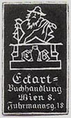 Eckart, Buchhandlung, Vienna, Austria (17mm x 27mm). Courtesy of Michael Kunze.
