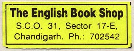 The English Book Shop, Chandigarh, India (42mm x 16mm).