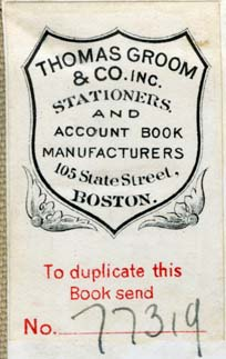 Thomas Groom & Co., Boston, Massachusetts (34mm x 53, c.1912). Courtesy of Robert Behra.