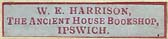 W.E. Harrison, The Ancient House Bookshop, Ipswich, England (30mm x 6mm, c.1930). Courtesy of Nicholas Forster.
