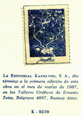 Editorial Kapelusz, Buenos Aires, Argentina (stamp of author Juan B. Grosso, 16mm x 33mm, 1967). Courtesy of Robert Behra.