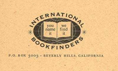 International Bookfinders logo -- 'You name it, we find it'